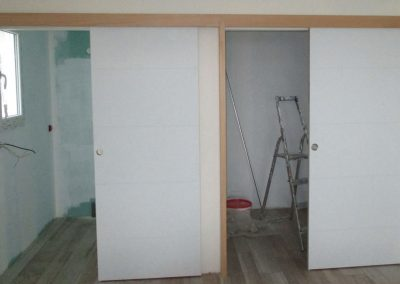 Pose de porte coulissante - Lapendry